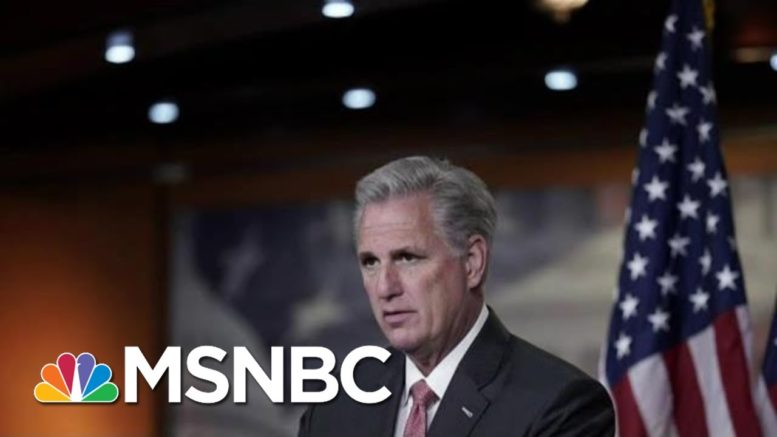 Rep. Kevin McCarthy Releases Statement Warning Against Impeachment | MTP Daily | MSNBC 1