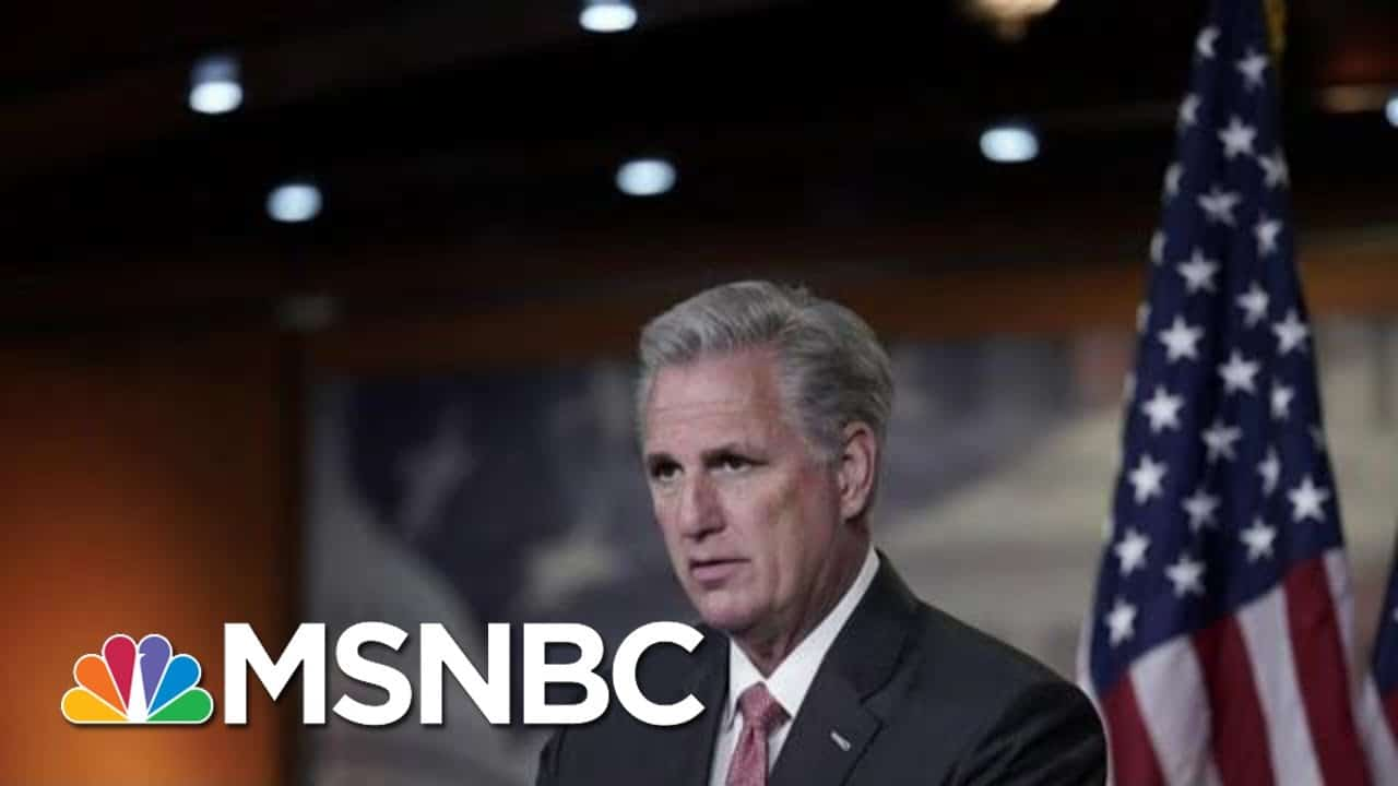 Rep. Kevin McCarthy Releases Statement Warning Against Impeachment   MTP Daily   MSNBC 1