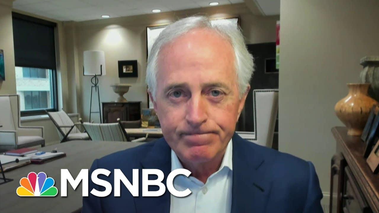 Fmr. Sen. Corker Says Cruz & Hawley Played A Destructive Role On Wednesday   Andrea Mitchell   MSNBC 1