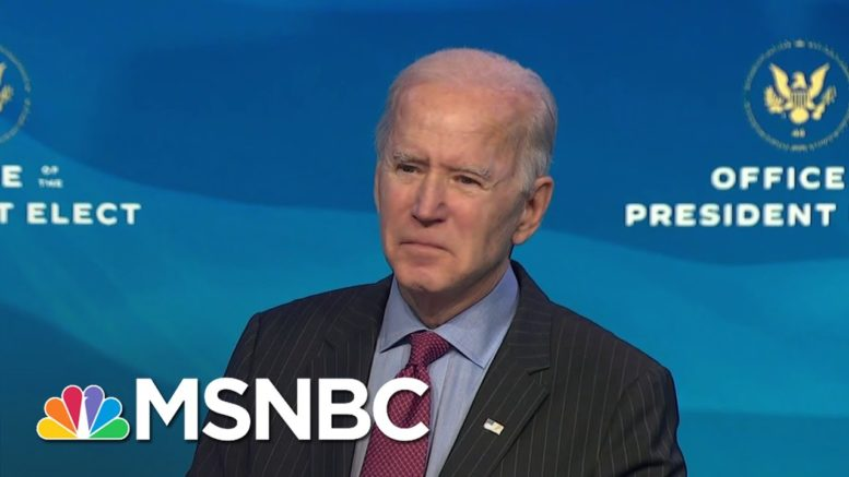 Biden Says Trump 'Not Fit To Serve' But Impeachment Is A Judgement For Congress To Make   MSNBC 1