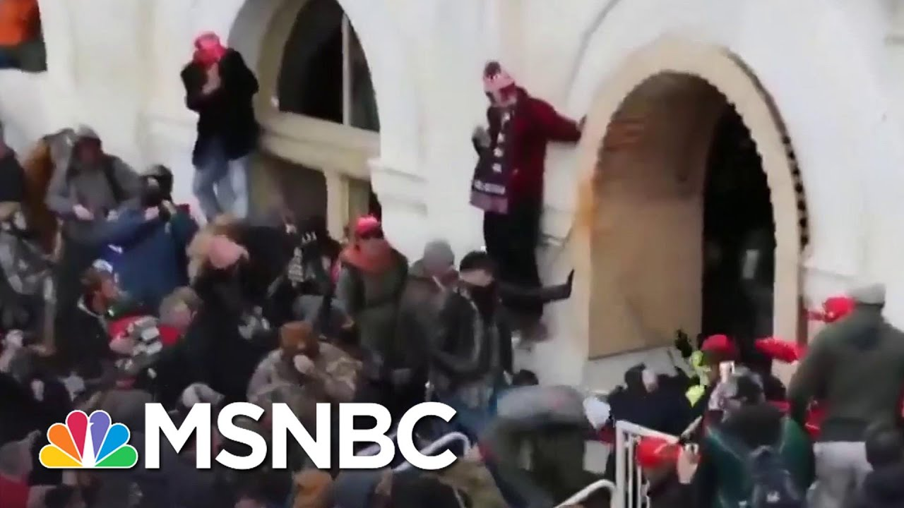 New Video Shows Rioters Attacking Capitol Police   MSNBC 1