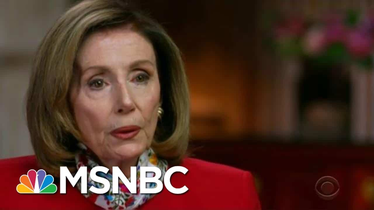 Speaker Pelosi Says 'Nothing Is Off The Table' In New Interview   Morning Joe   MSNBC 4