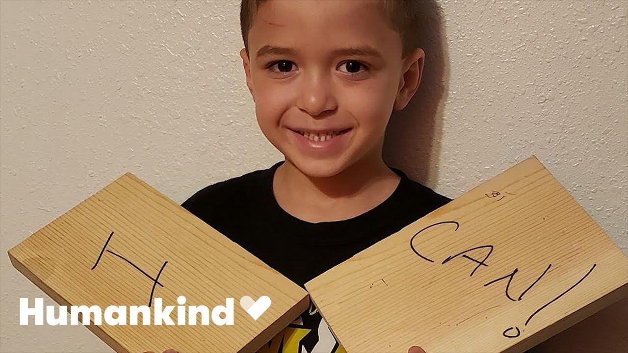 Karate dojo erupts in cheers when boy breaks board | Humankind 8