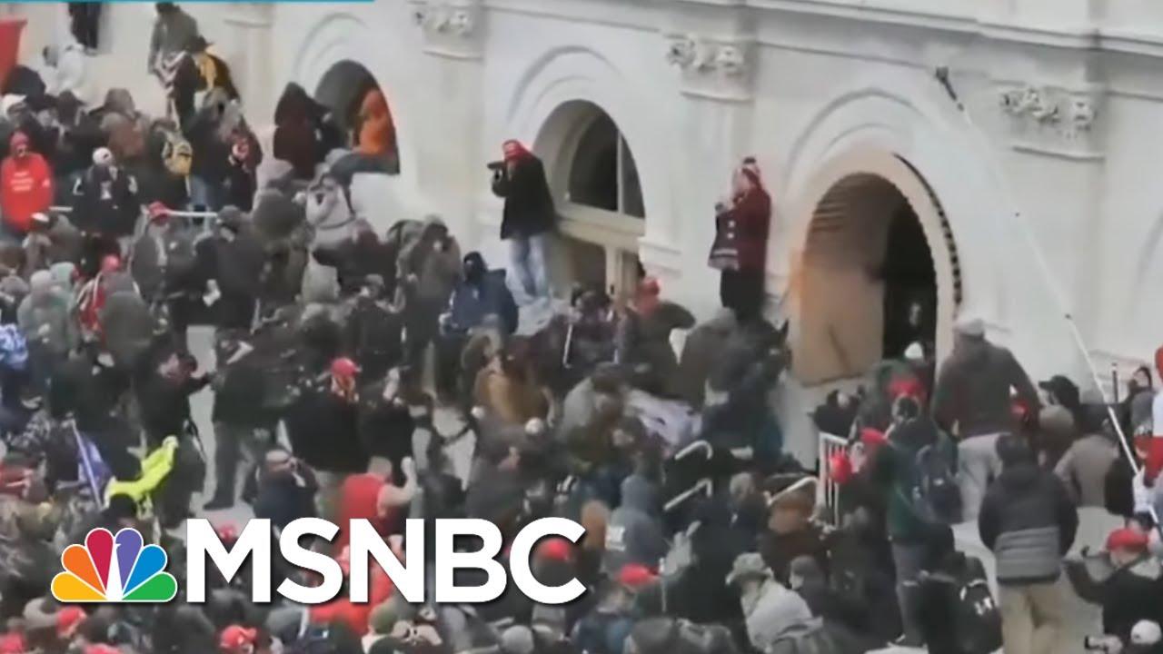 Video Shows Trump Mob Brutalizing Police; Investigators Make Progress On Arrests | Rachel Maddow 1