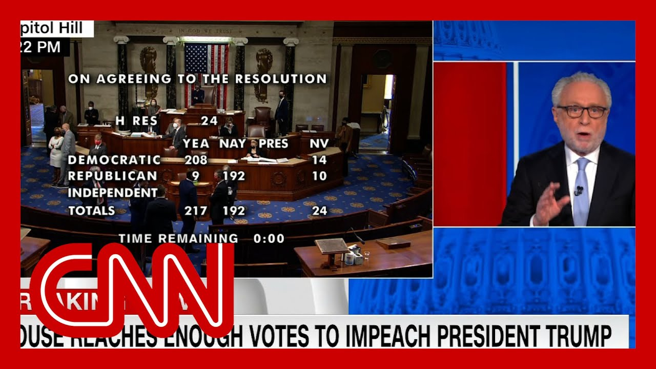 See moment Trump got impeached for second time 1