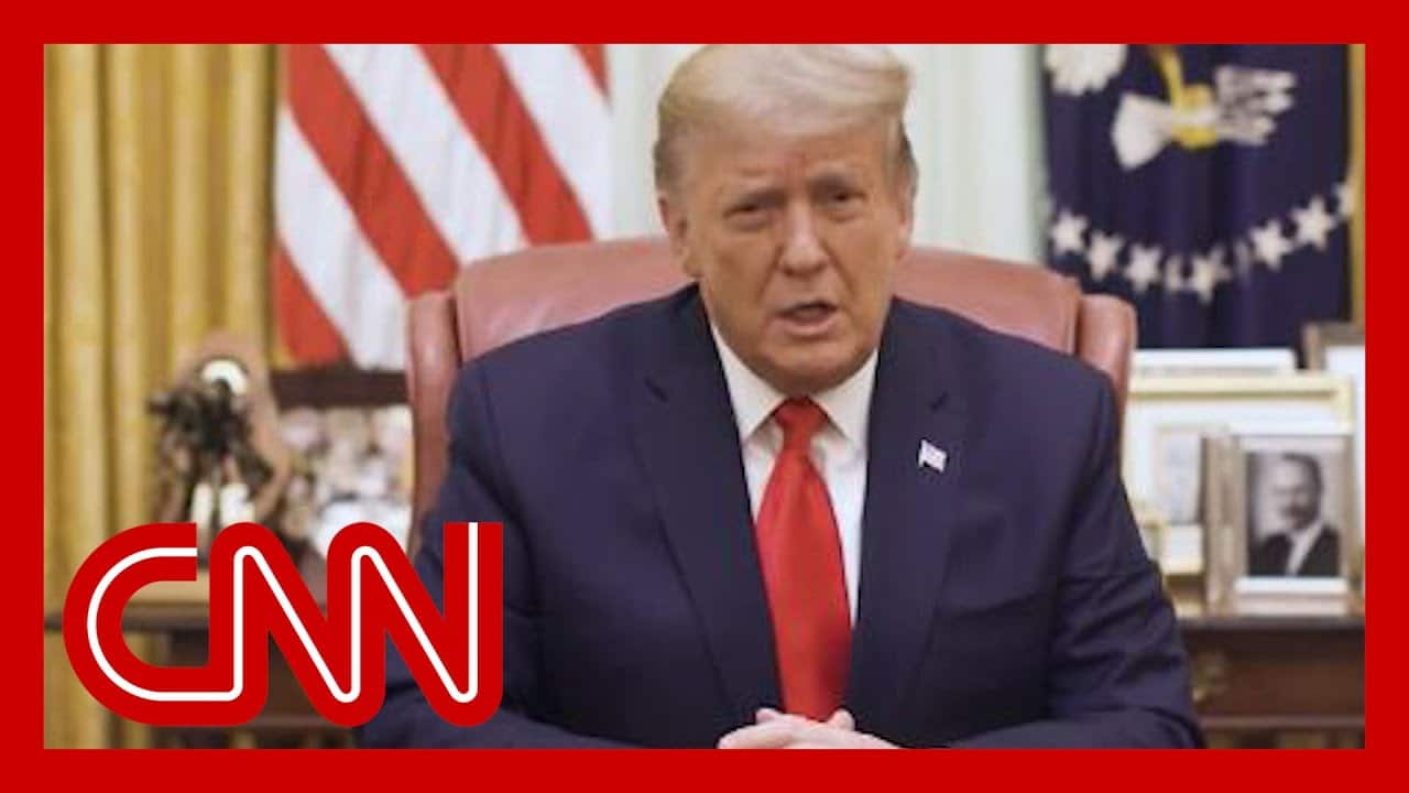 Trump releases video after being impeached again 1