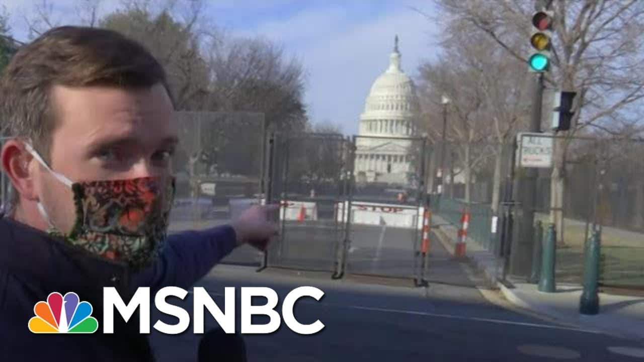 Armed National Guard Deployed To Protect Capitol Ahead Of Trump Impeachment Vote   MTP Daily   MSNBC 1