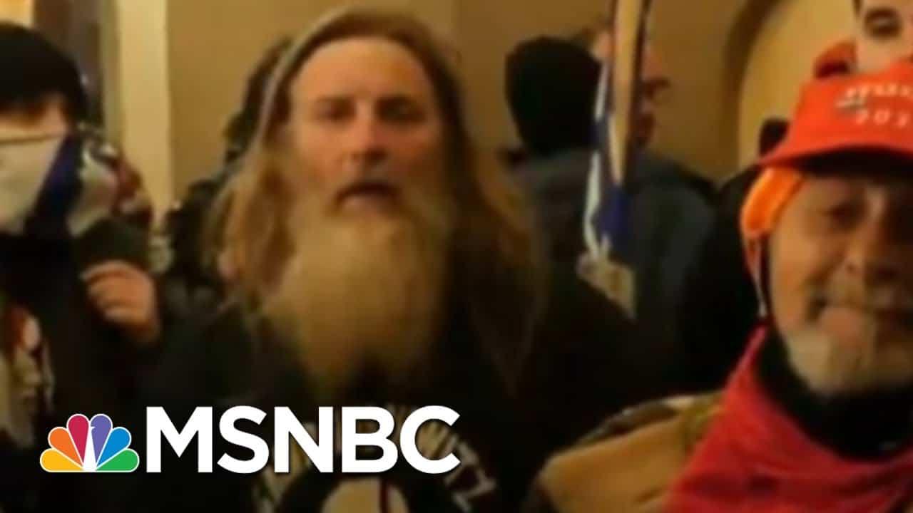 Person Seen Wearing 'Camp Auschwitz' Sweatshirt During Capitol Riot Arrested   MSNBC 1