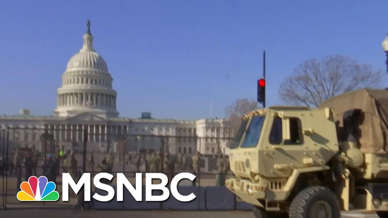 Security Around Capitol Tightens Ahead Of Second Impeachment Vote, Inauguration Day | MSNBC 1