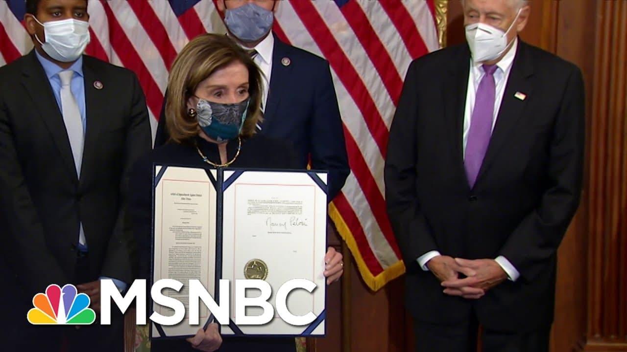 Pelosi Signs Second Articles Of Impeachment Against Trump | MSNBC 2