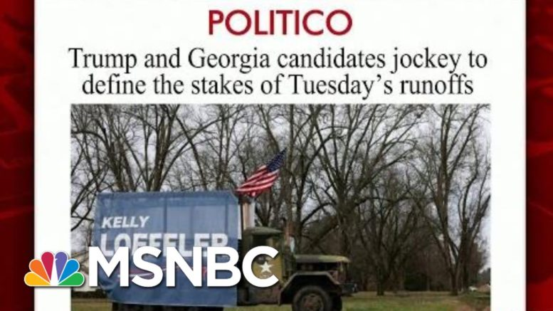 Trump To Campaign For GOP Senators Ahead Of Georgia Runoff   Morning Joe   MSNBC 1