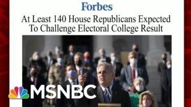 Some Republicans Push Back Against Senators Opposing Biden Certification   Morning Joe   MSNBC 6