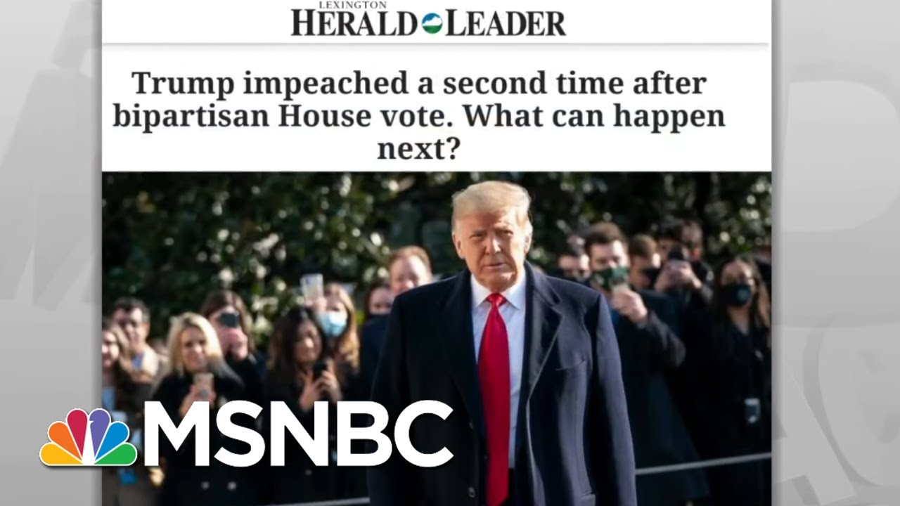 'Historic Disgrace' Of Trump's Impeachments Likely His Most Enduring Legacy | Rachel Maddow | MSNBC 1