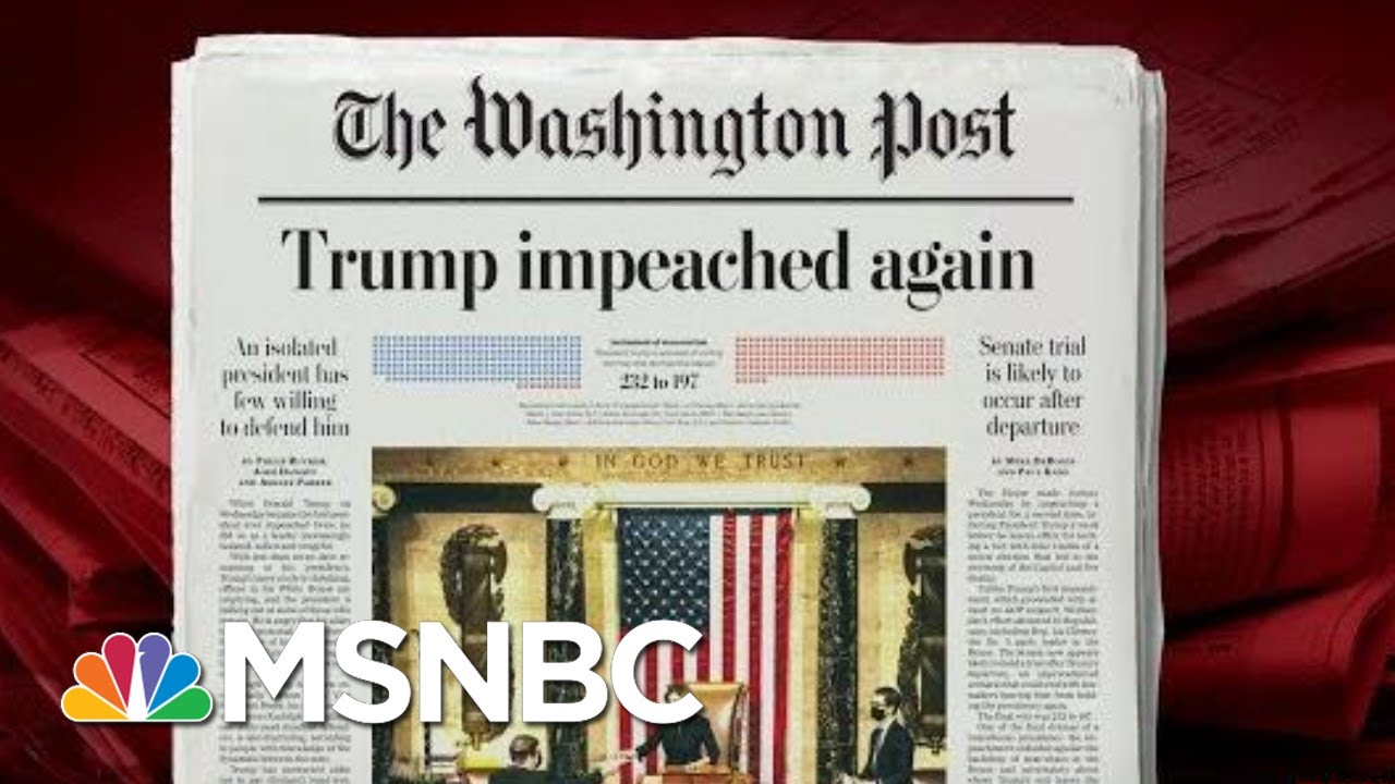 Donald Trump Impeached For A Second Time   Morning Joe   MSNBC 1