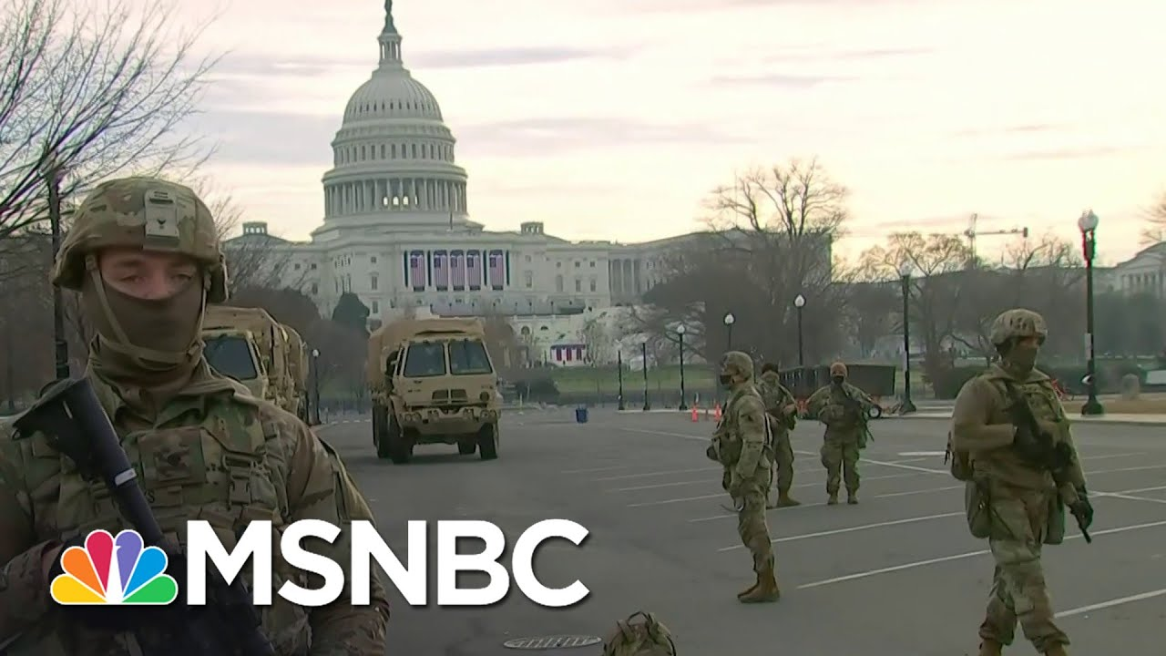 Thousands Of Troops Descend On Washington Ahead Of Inauguration | Stephanie Ruhle | MSNBC 1
