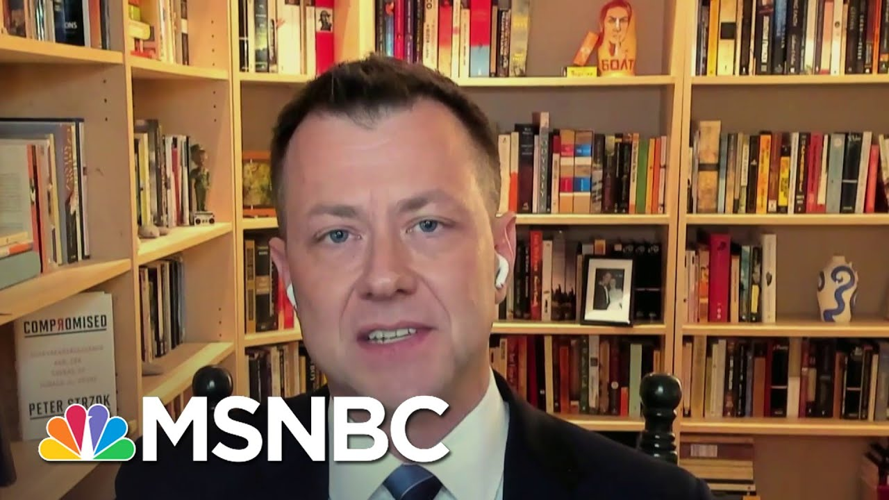 Strzok: 'A Lot Of Different Systems Had To Fail' For The Capitol To Not Be Secure   Deadline   MSNBC 1