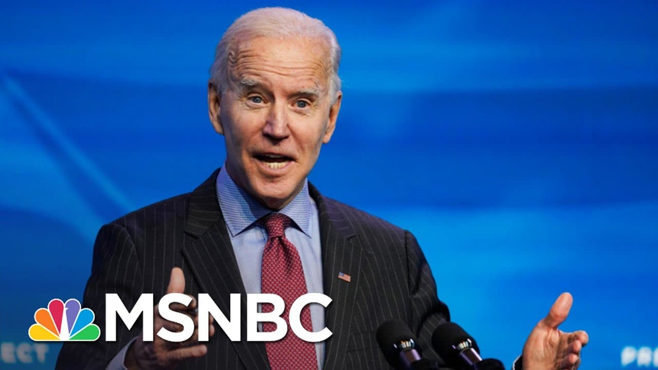 Biden Blasts Trump Vaccine Rollout, Details New Distribution Plan   The 11th Hour   MSNBC 1