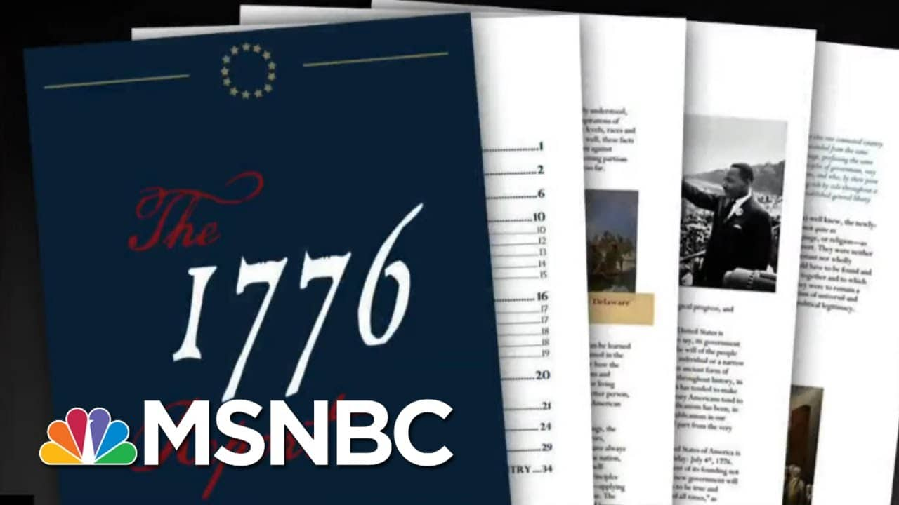 White House Releases '1776 Report' That Tries To Erase Legacy Of Slavery | All In | MSNBC 4