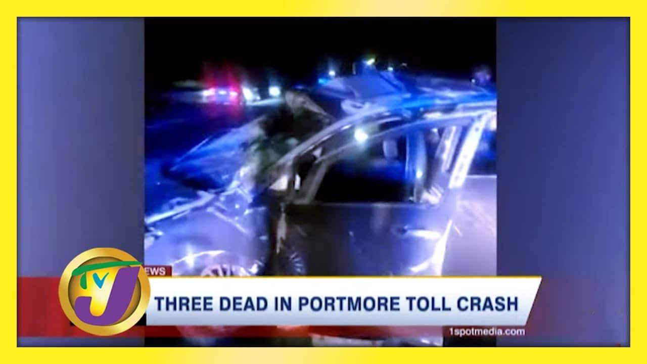 3 Dead in Portmore Toll Crash - January 17 2021 1