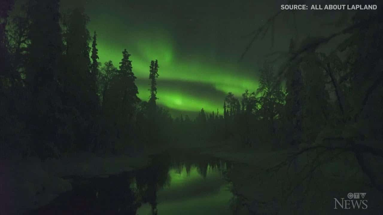 Watch: Stunning display of northern lights in Finland 1