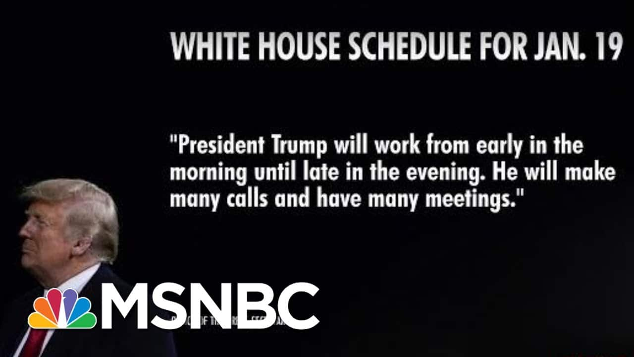 Trump's Schedule Blank For Final Full Day In Office   Morning Joe   MSNBC 1