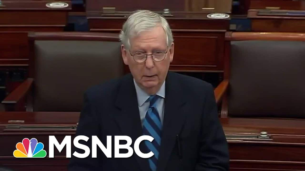 McConnell: Capitol Rioters Were 'Provoked By The President' And 'Fed Lies'   Andrea Mitchell   MSNBC 1