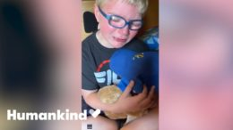 Boy sobs at sound of grandpa's voice in teddy bear | Humankind 4