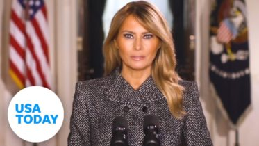 Melania Trump gives farewell message days before Biden's inauguration | USA TODAY 6