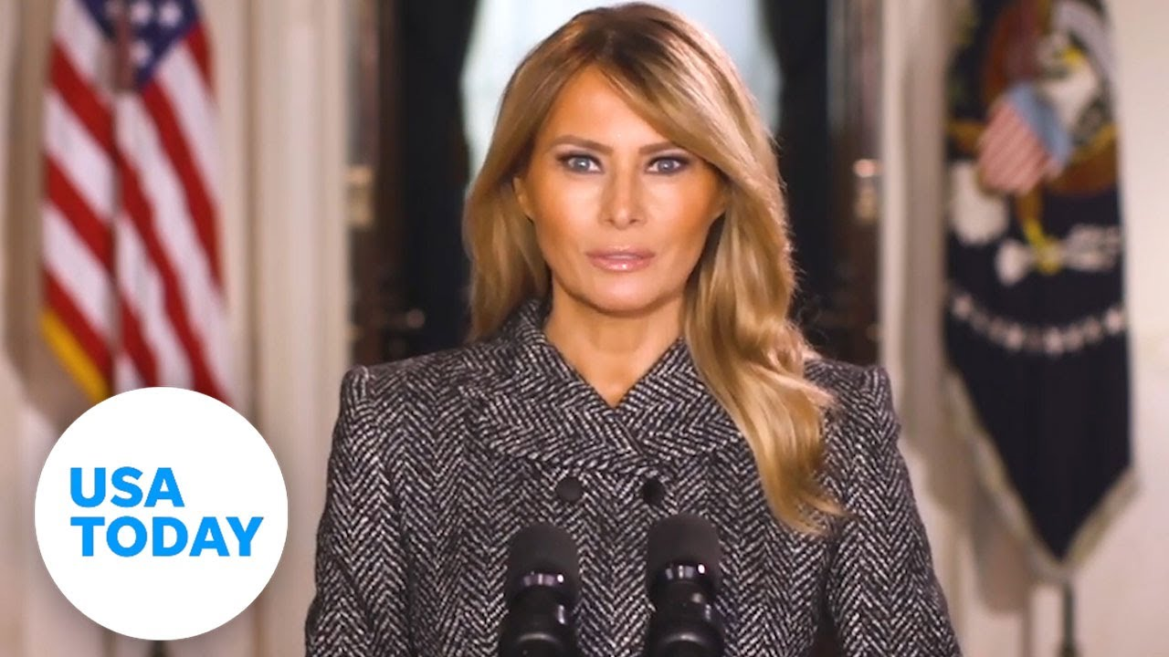 Melania Trump gives farewell message days before Biden's inauguration | USA TODAY 1