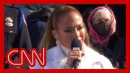 Jennifer Lopez performs at Biden's inauguration 6
