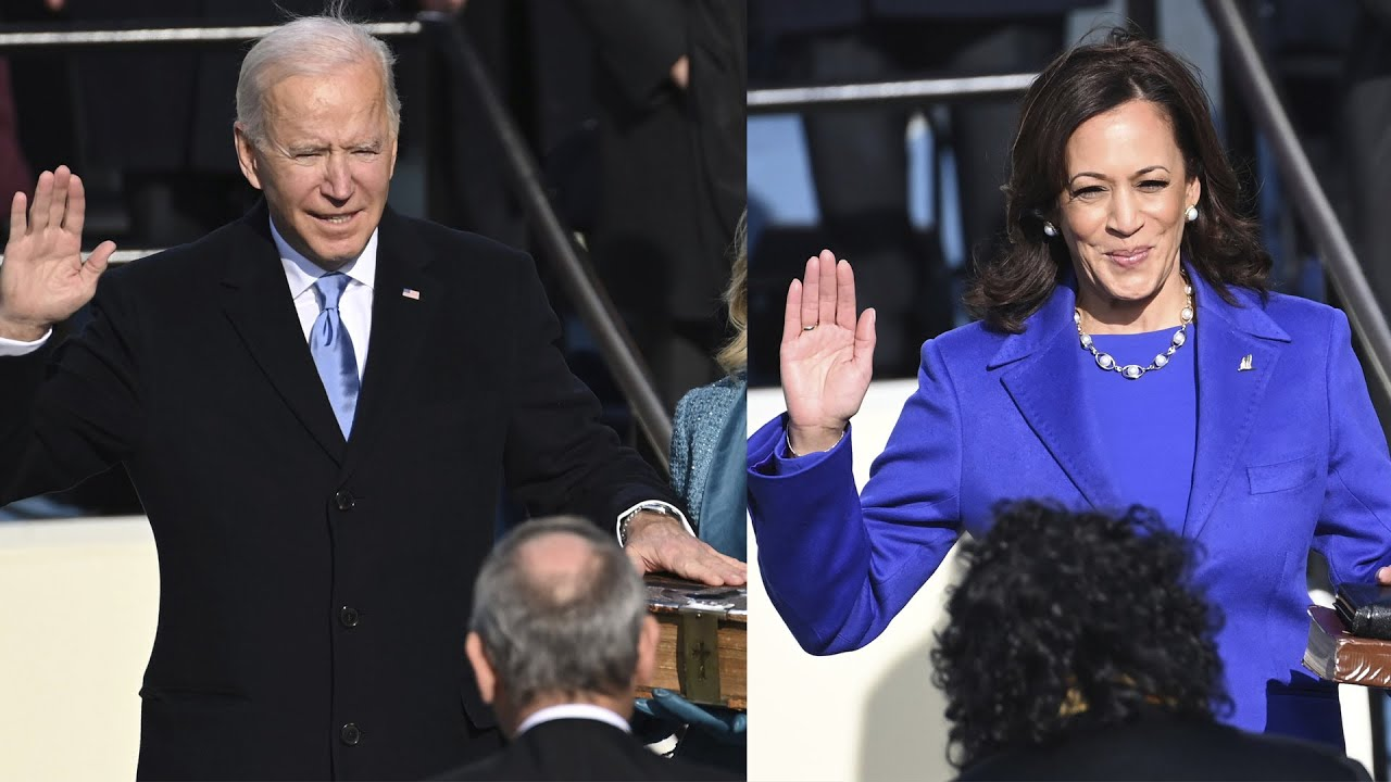 Joe Biden and Kamala Harris sworn into office 1