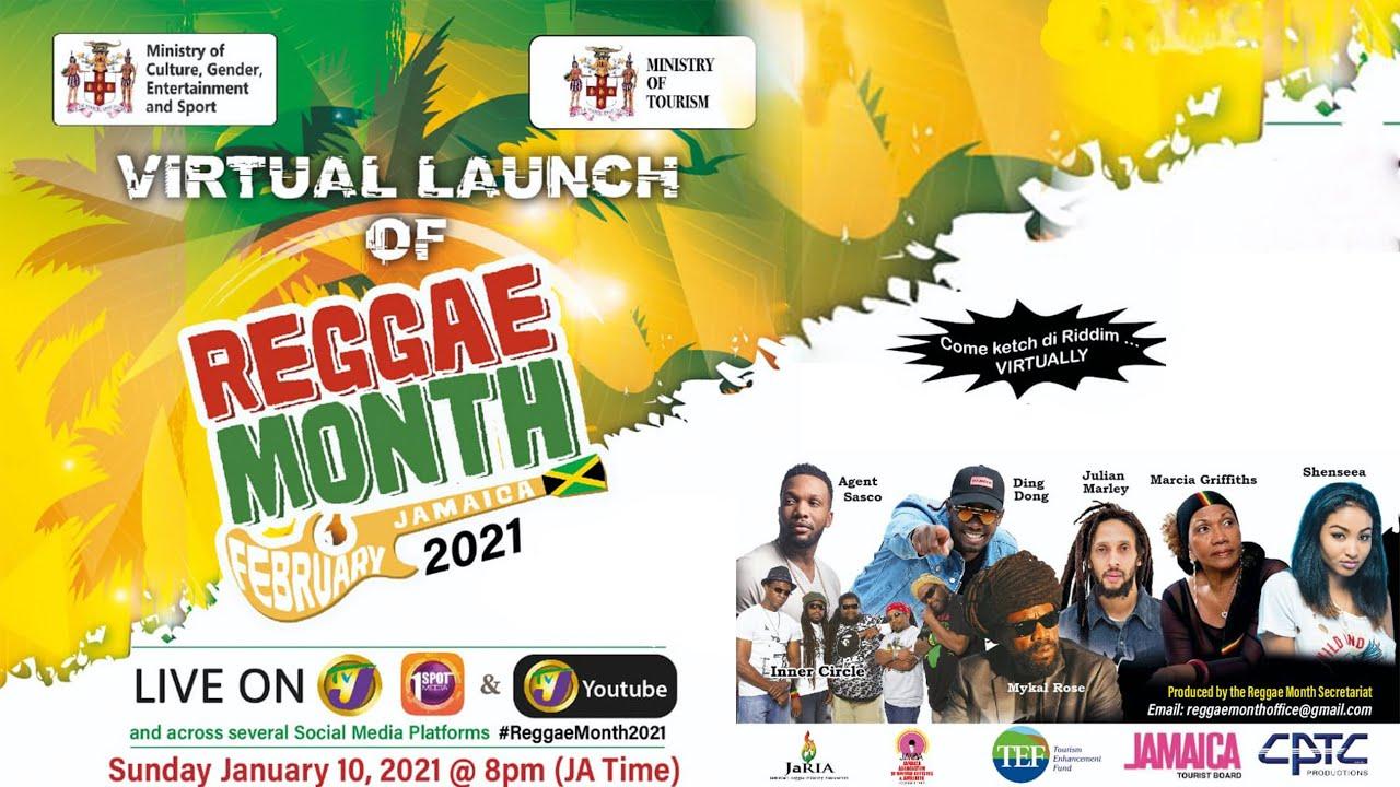 Virtual Launch of Reggae Month - Jamaica February 2021 1