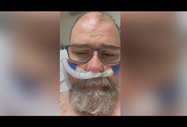 COVID-19 patient makes emotional plea from hospital bed 1