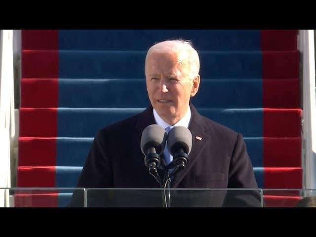 'Democracy has prevailed': President Biden's first speech 1
