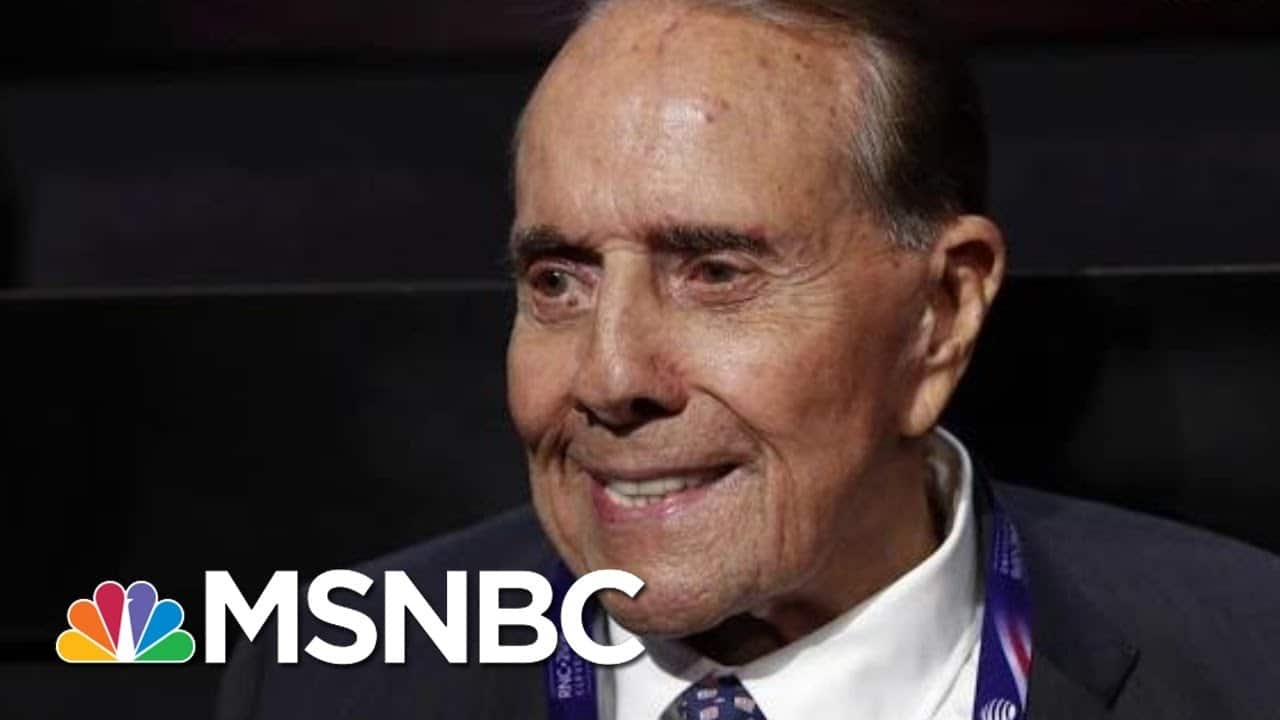 Bob Dole Reveals He Has Been Diagnosed With Lung Cancer | Hallie Jackson | MSNBC 4