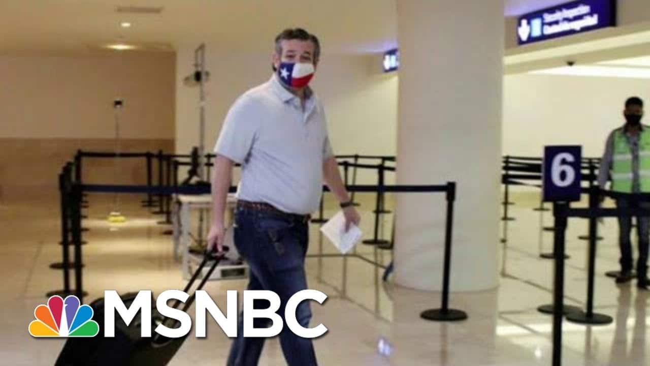 Ted Walks: Cruz Hammered For Jetting To Paradise Amid Texas Crisis | The Beat With Ari Melber 7