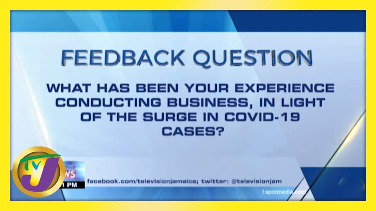 TVJ News: Feedback Question - February 16 2021 1