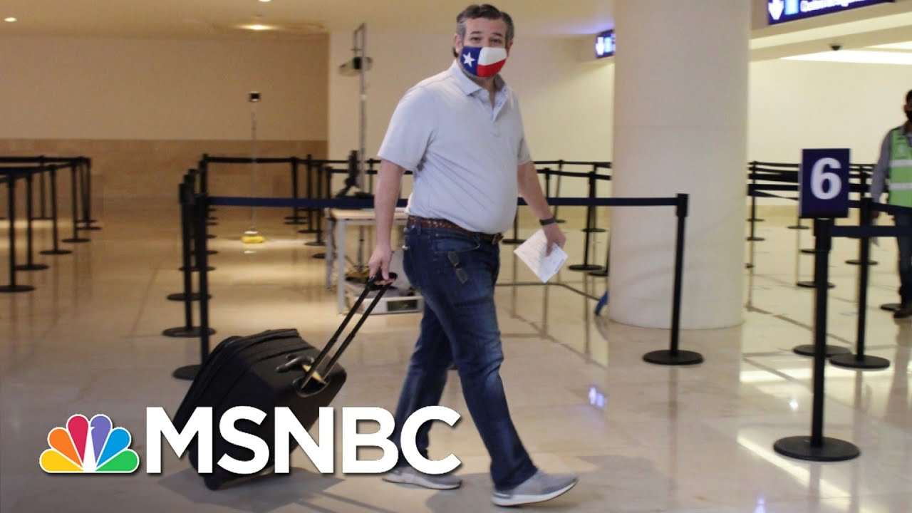 Cruz's Cancun Trip A 'Blow To Morale' As Texans Suffer | The 11th Hour | MSNBC 1