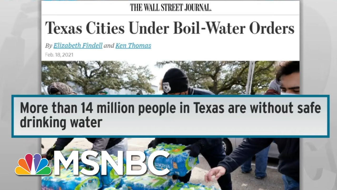 Millions In TX Are Without Safe Drinking Water As Power Catastrophe Drags On | Rachel Maddow | MSNBC 1