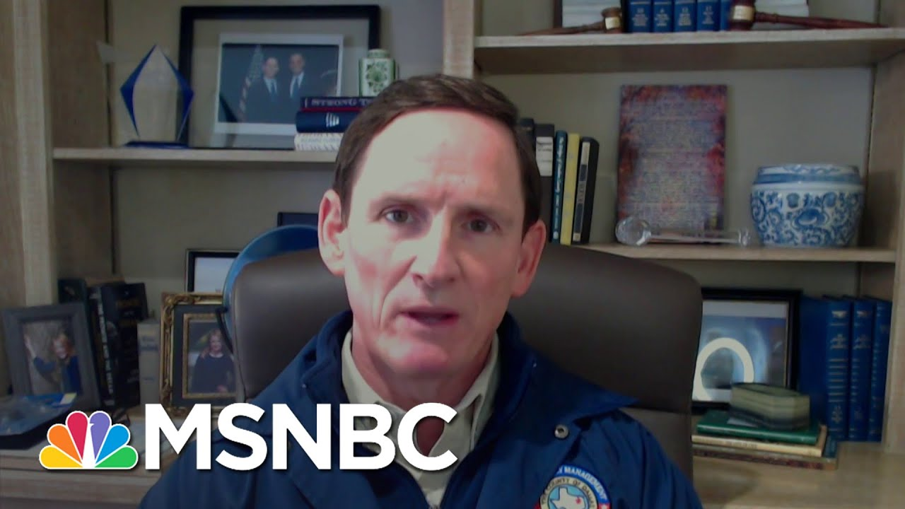 Dallas County, TX Judge: 'You Can Put This At The Foot Of The Governor's Office'   Deadline   MSNBC 6