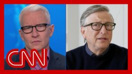 Anderson Cooper asks Bill Gates if he'd eat inside a restaurant 1 year from now 7