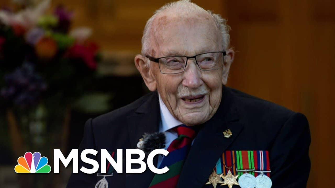 Captain Sir Tom Moore, British Veteran Who Raised Millions For Medical Workers, Dies At 100   MSNBC 1