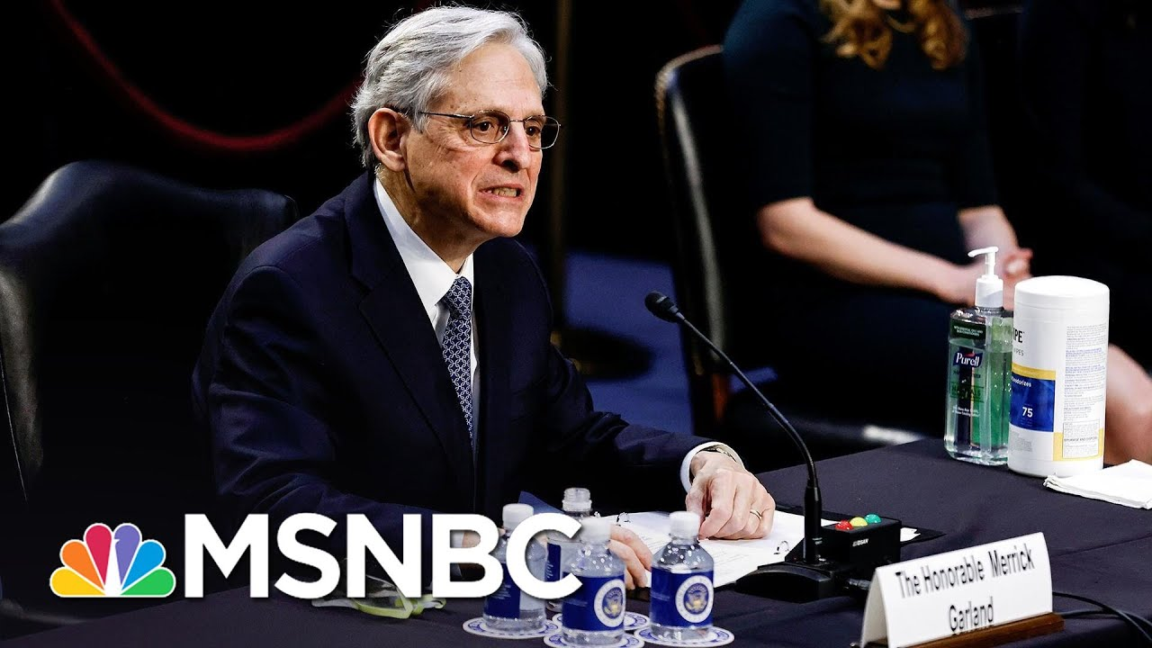 Merrick Garland Says He Will Prosecute Rioters, White Supremacists Who Stormed Capitol   MSNBC 9