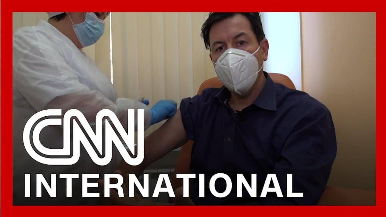 CNN reporter receives Russia's Sputnik V vaccine 8