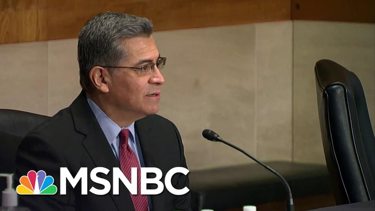Republican Bad Faith Seen In Hollow Objections To Biden HHS Nominee Becerra | Rachel Maddow | MSNBC 1
