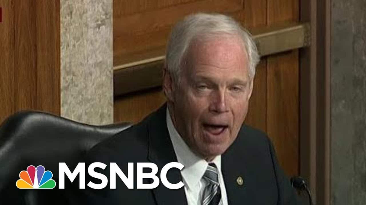 Sen. Ron Johnson Promotes Conspiracy Theory During Hearing   Morning Joe   MSNBC 1