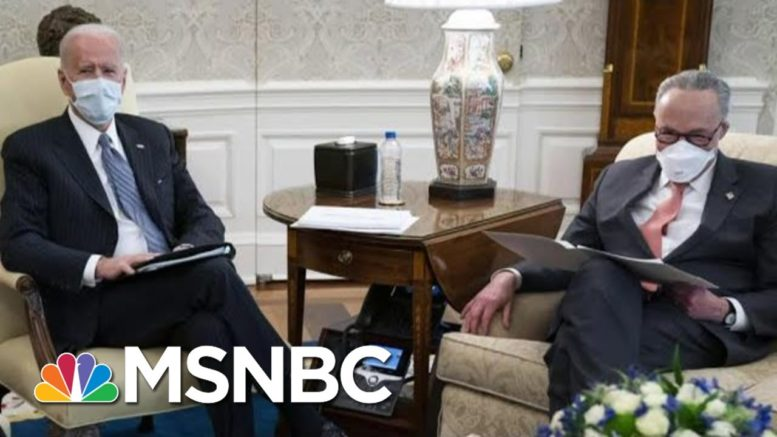 Democrats Awaiting Key Ruling On Covid Relief Bill As Biden Urges Quick Passage | MTP Daily | MSNBC 1