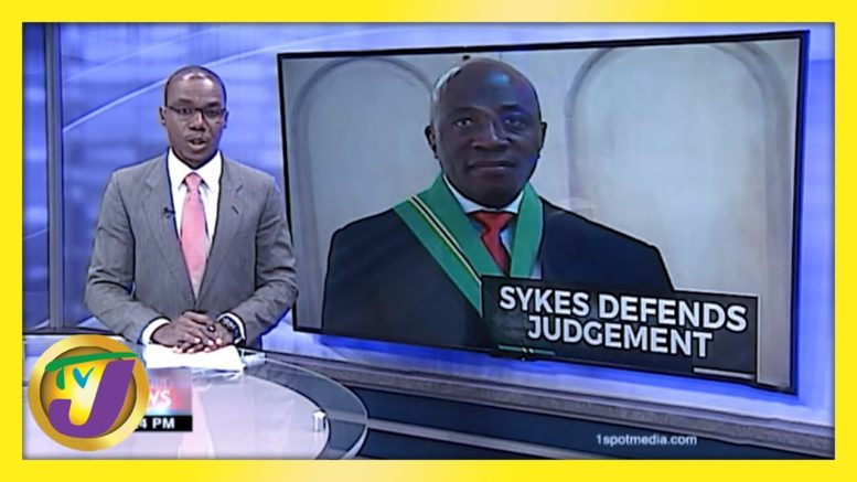 Jamaica's Chief Justice Bryan Sykes Defend Judgement | TVJ News - February 24 2021 1