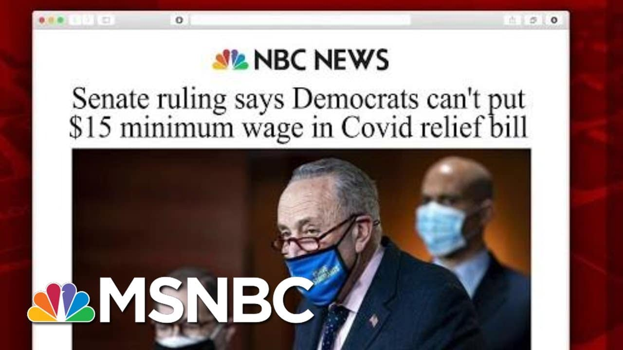 Senate Ruling Removes Minimum Wage From Covid-19 Bill, But Is The Fight Over?   Morning Joe   MSNBC 1