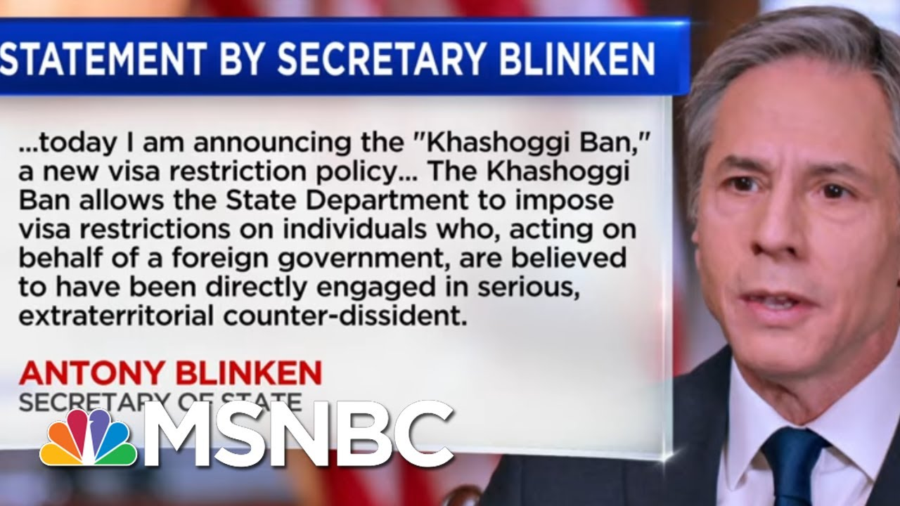 State Dept. Issues Response To Intelligence Report Findings On Khashoggi's Murder   Katy Tur   MSNBC 1